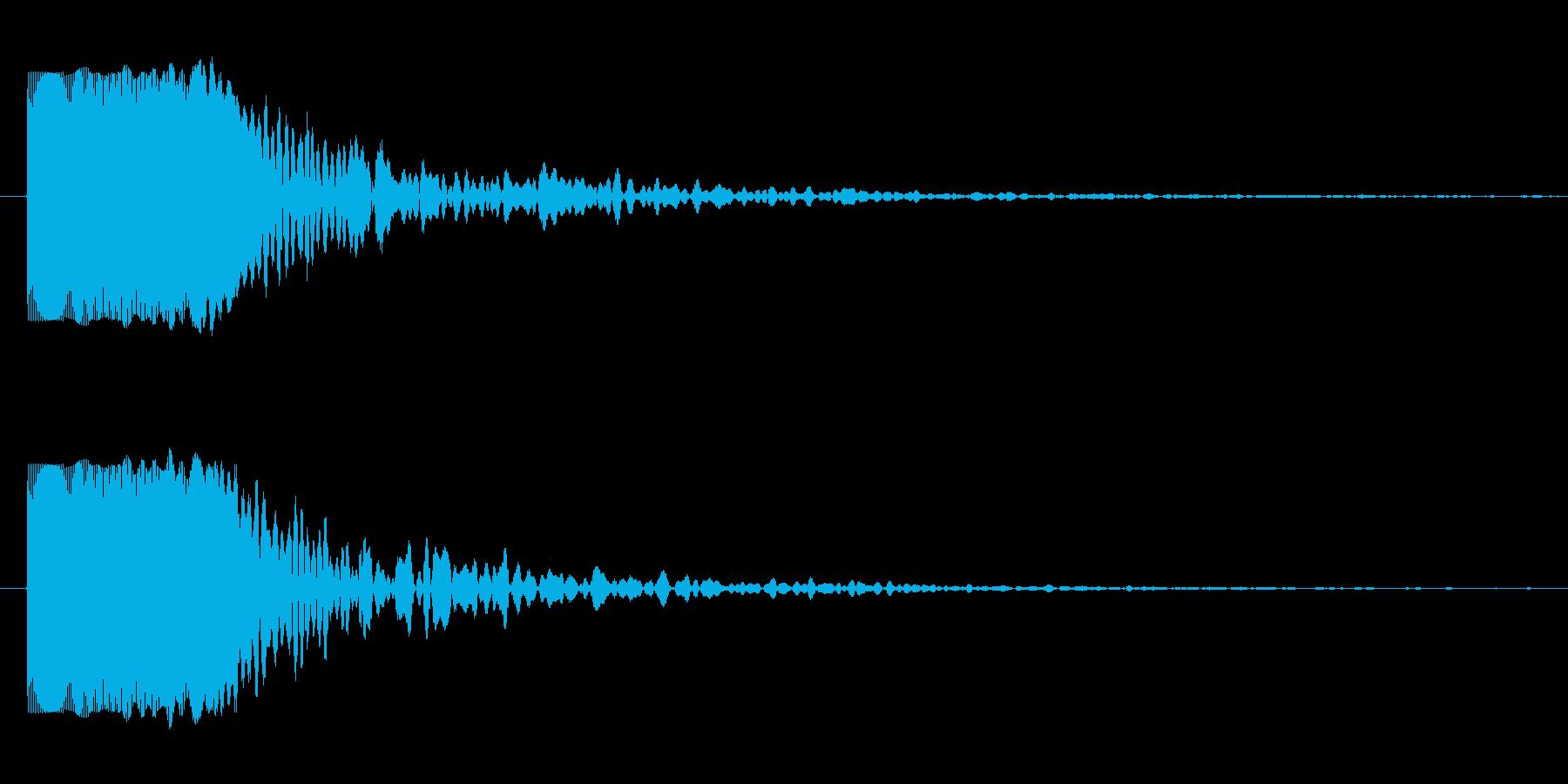 浮遊感のある効果音ですの再生済みの波形