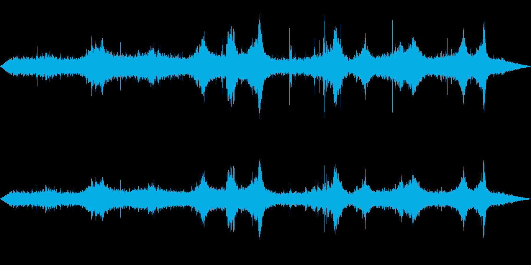 環境音-雨(窓から外を見るイメージ1)の再生済みの波形