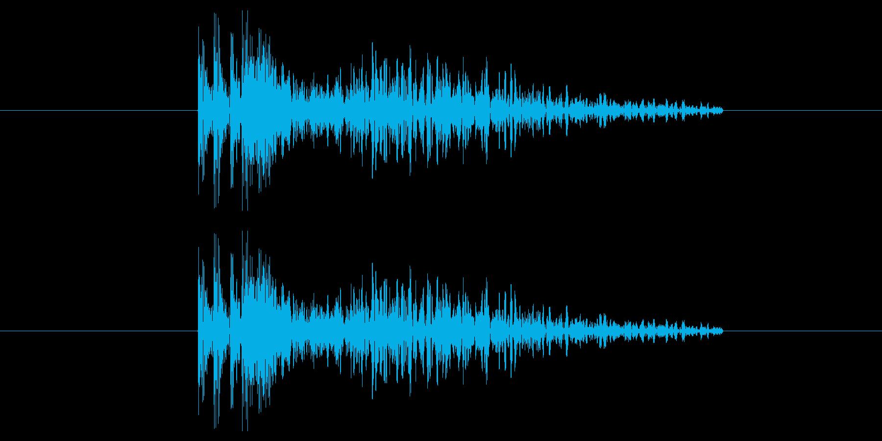 銃声(威力高め)の再生済みの波形