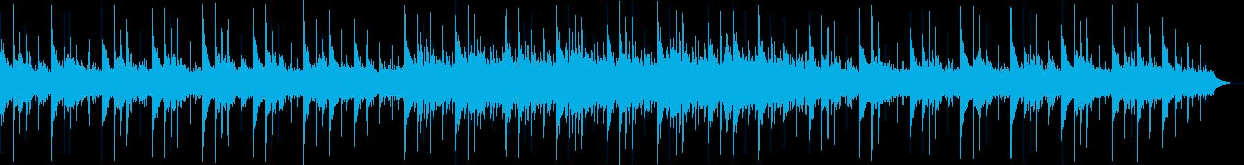 透き通るシンセサイザーサウンドの再生済みの波形