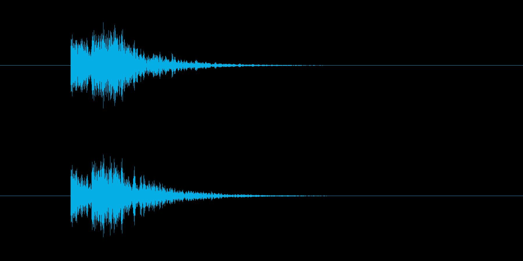 おしゃれな感じの着信音の再生済みの波形