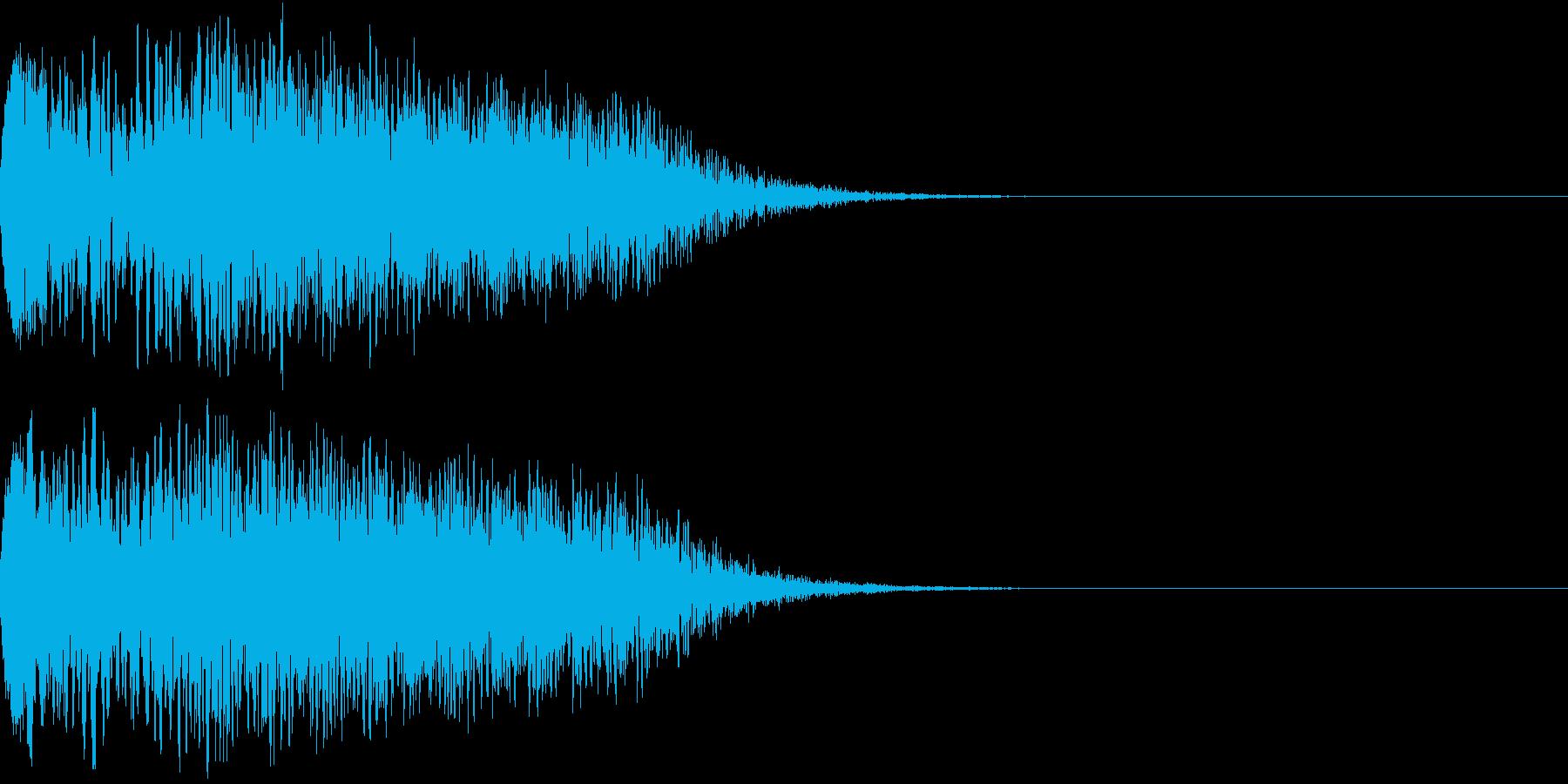 キュイン 光 ピカーン フラッシュ 16の再生済みの波形
