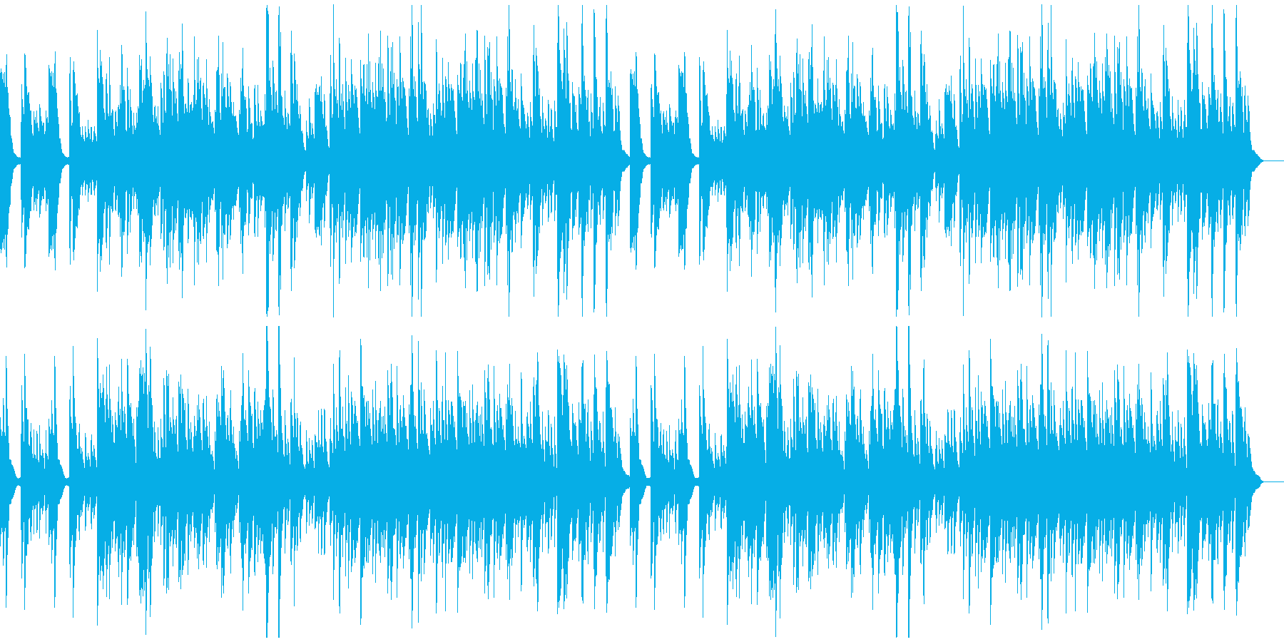 しんと静まり返るようなソロ・ピアノ曲の再生済みの波形
