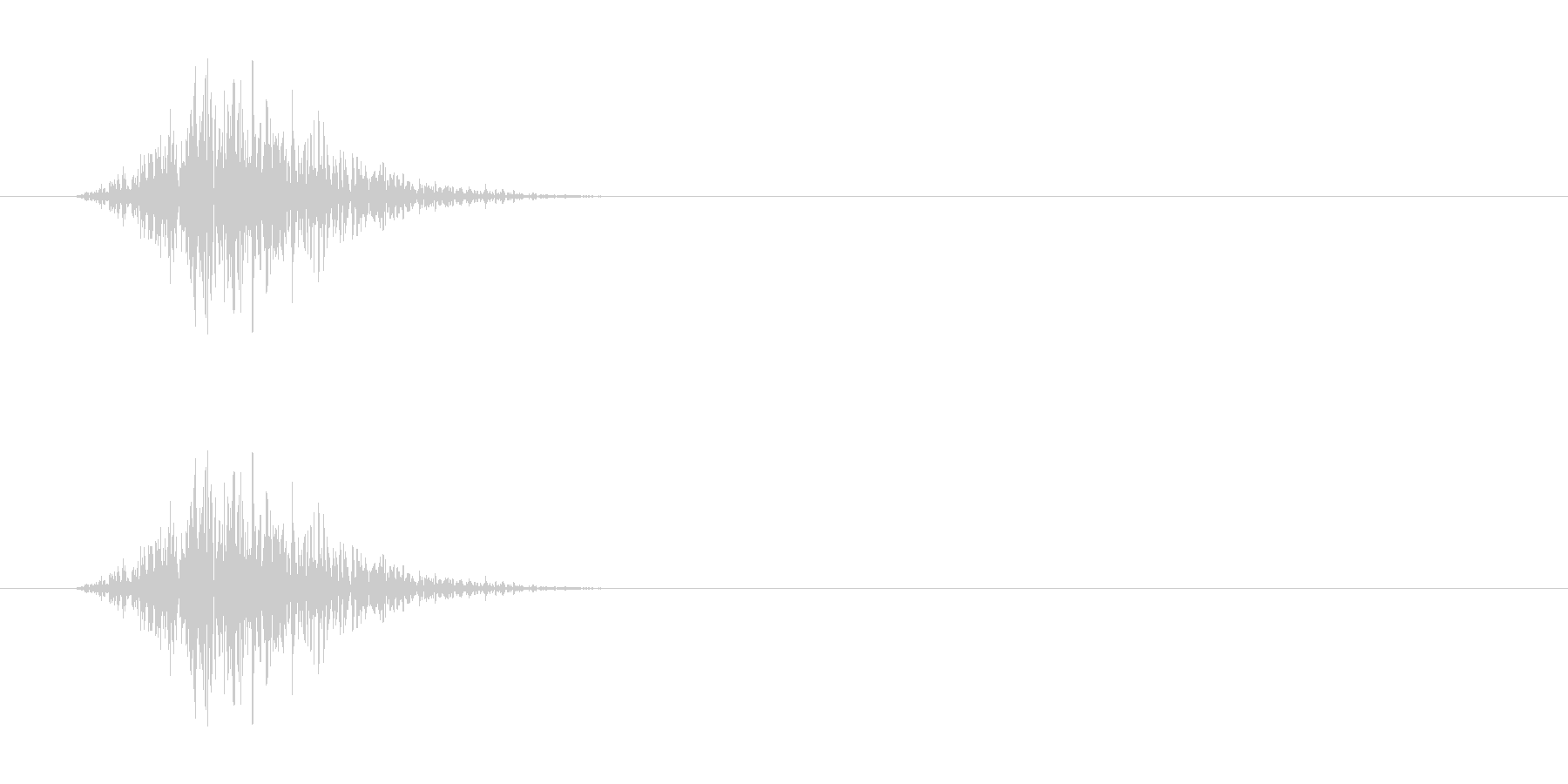 マントを脱ぐ音ですが動作と組み合わせる…の未再生の波形