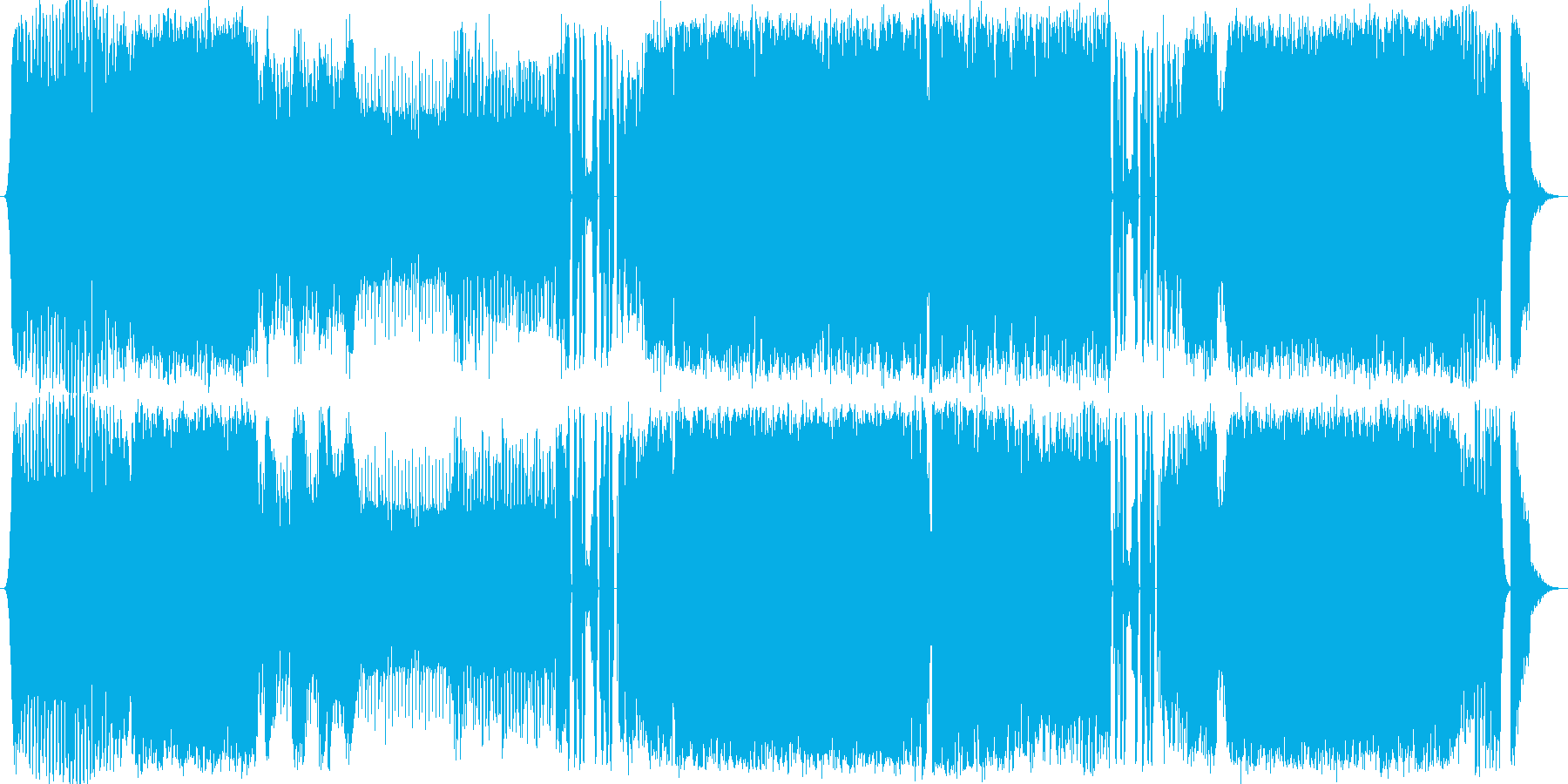 疾走感のあるオープニング/エンディングの再生済みの波形