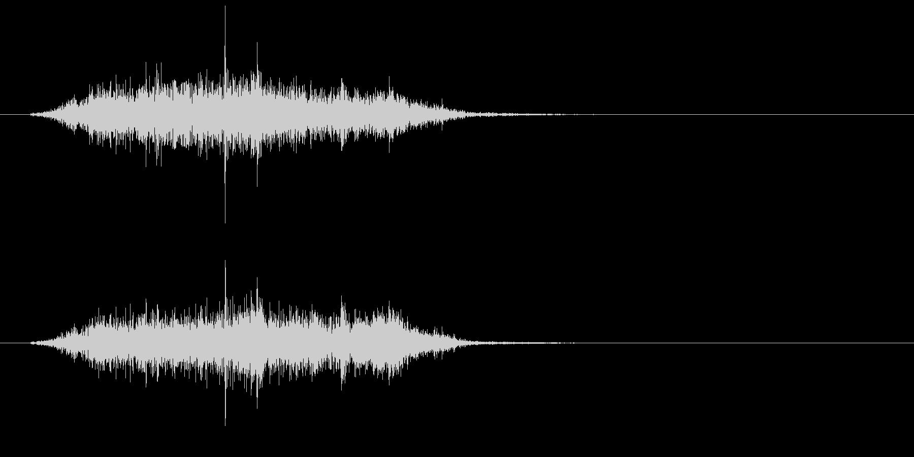 シュルルッ(巻き物、紙)の未再生の波形