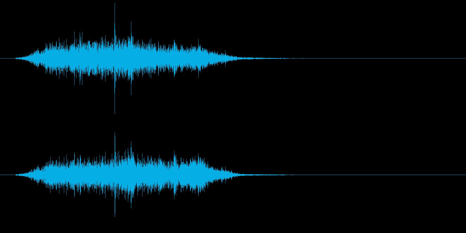 シュルルッ(巻き物、紙)の再生済みの波形