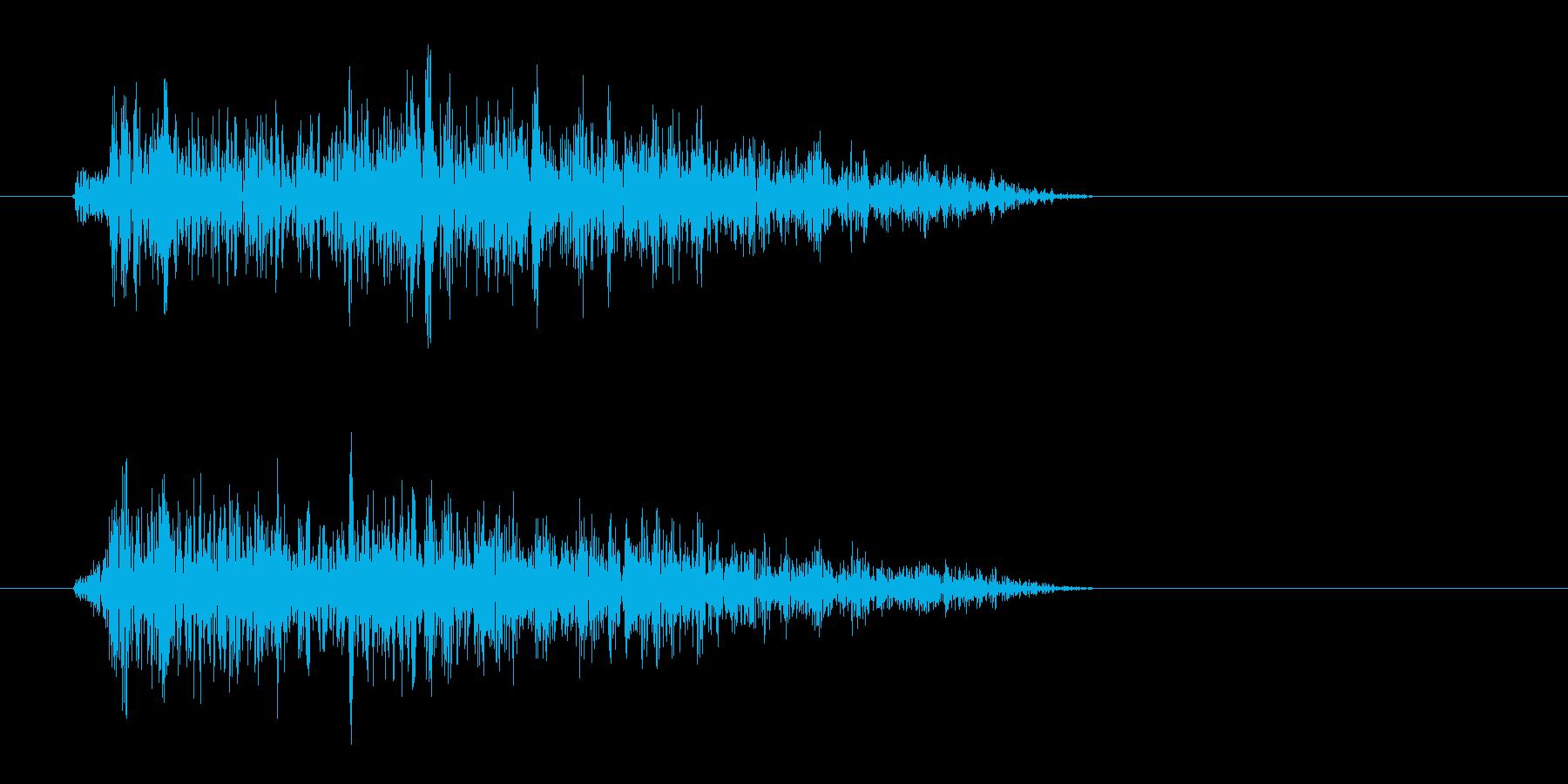 シャーまたはチュン(短い音)の再生済みの波形