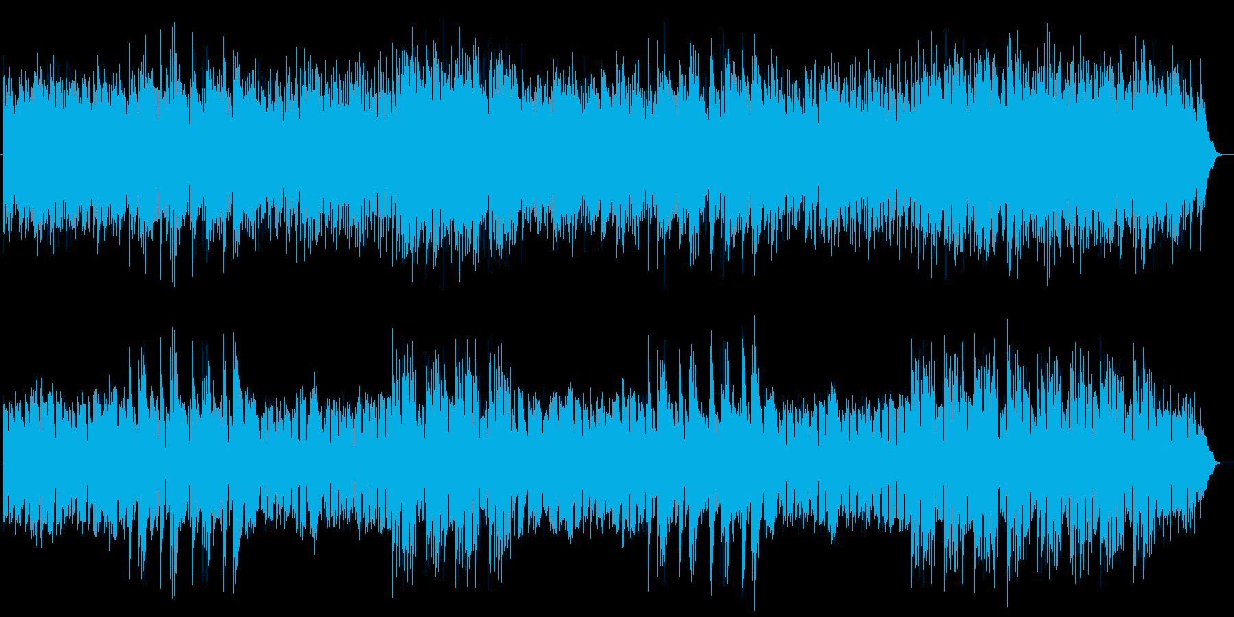 優しく平和的なミュージックの再生済みの波形