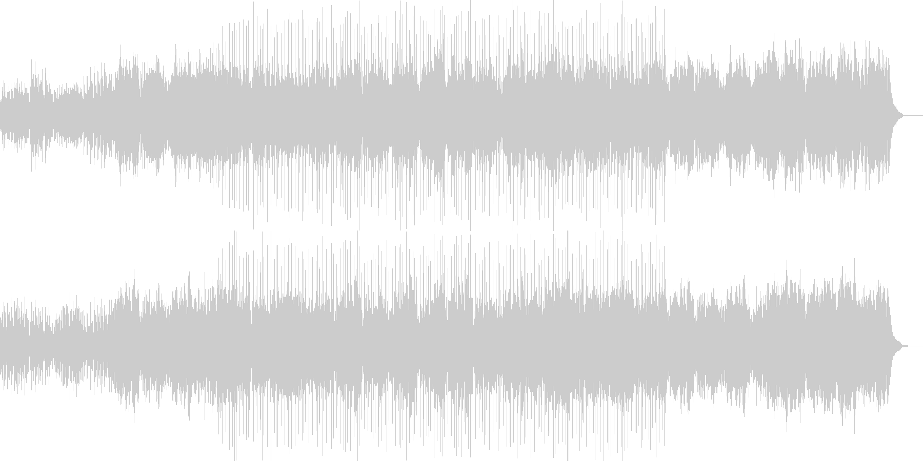 ピアノとフルート中心のバラード風な曲の未再生の波形