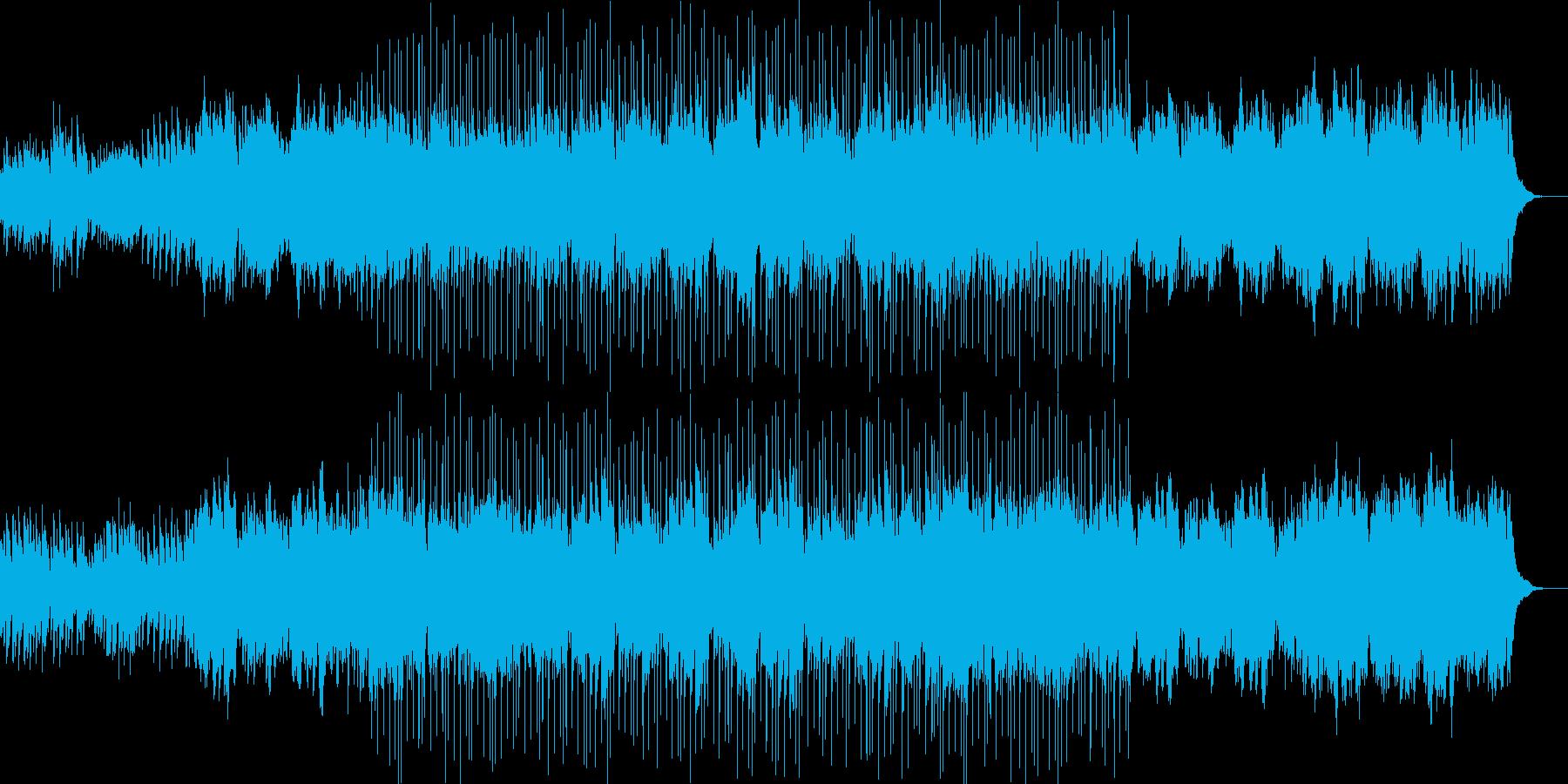 ピアノとフルート中心のバラード風な曲の再生済みの波形