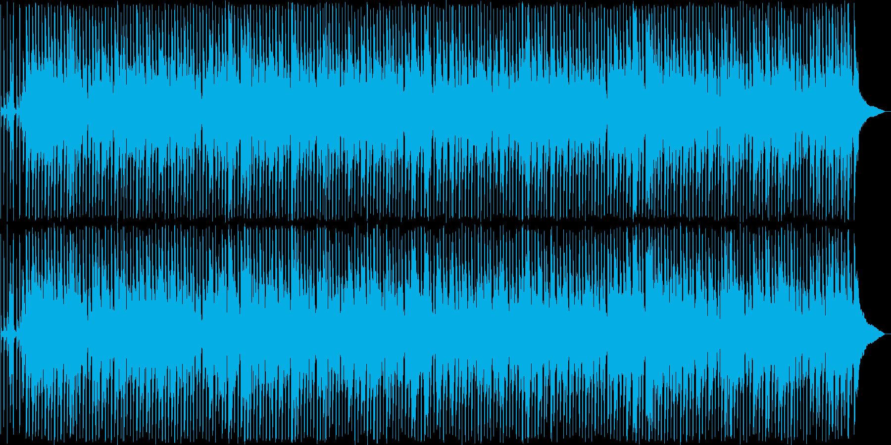 のんびりした雰囲気のウクレレ曲の再生済みの波形