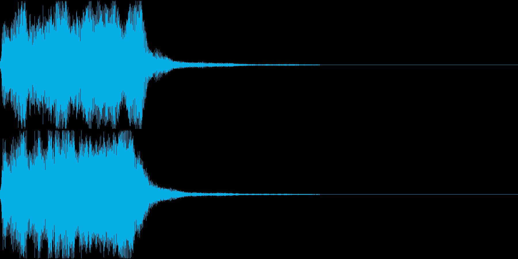 ラッパ ファンファーレ 定番 19の再生済みの波形