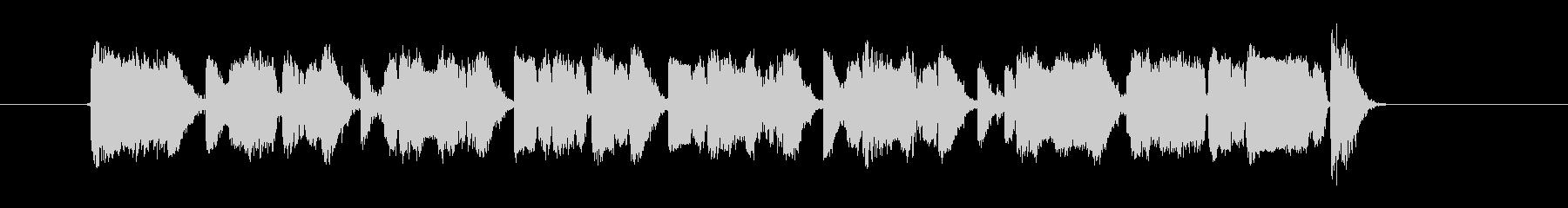 スピーディーでアップテンポなジングルの未再生の波形