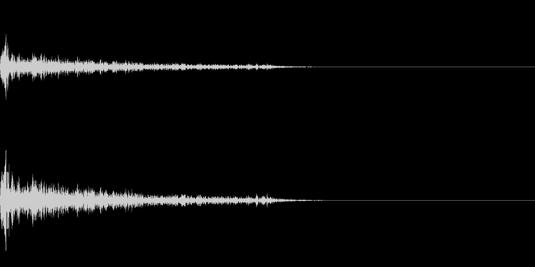 バキューンの未再生の波形
