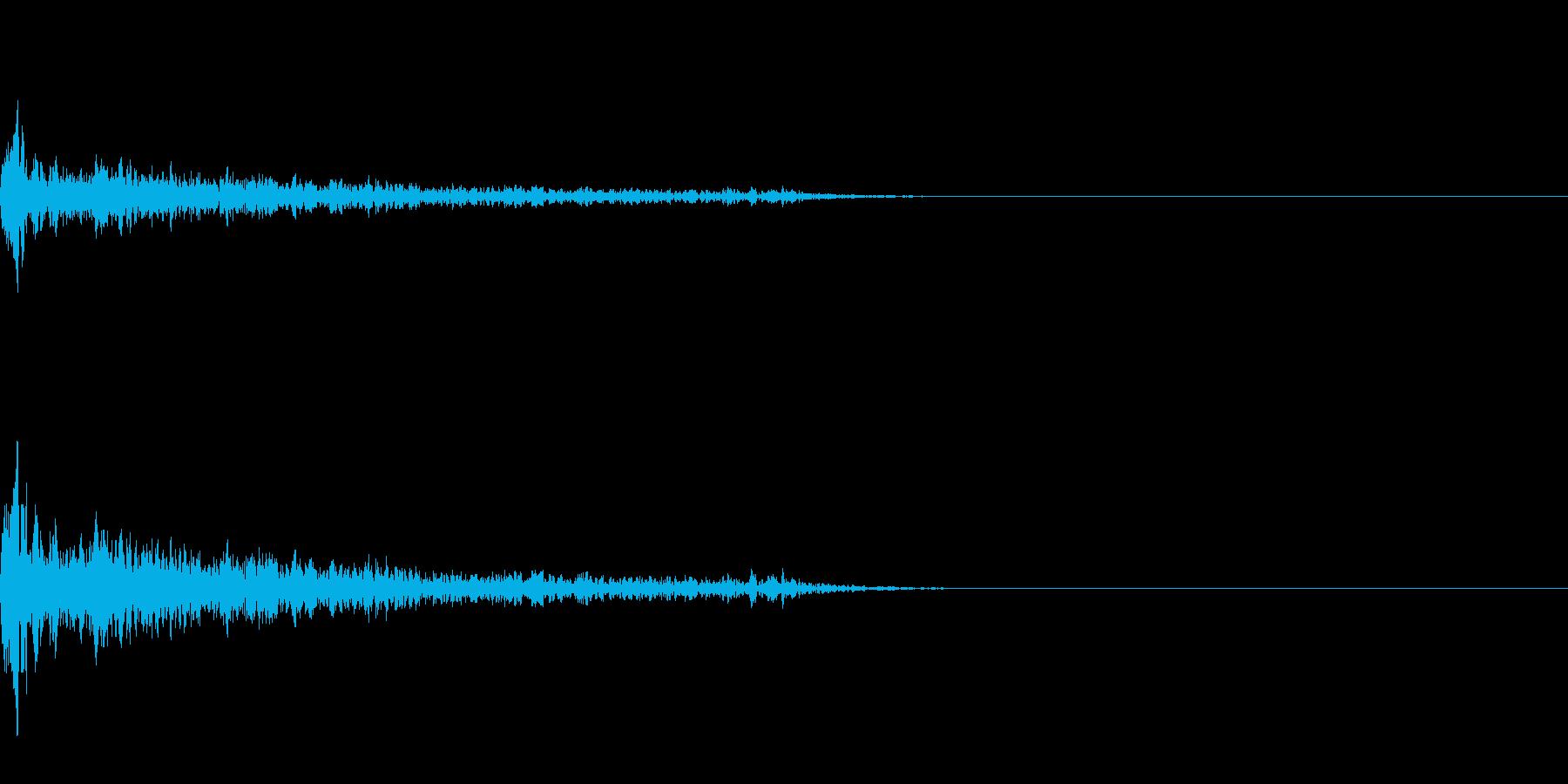 バキューンの再生済みの波形