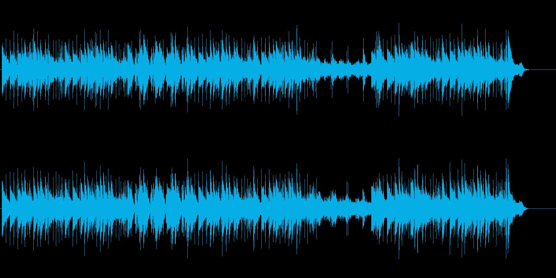 坦々とした構成のフュージョン風の再生済みの波形