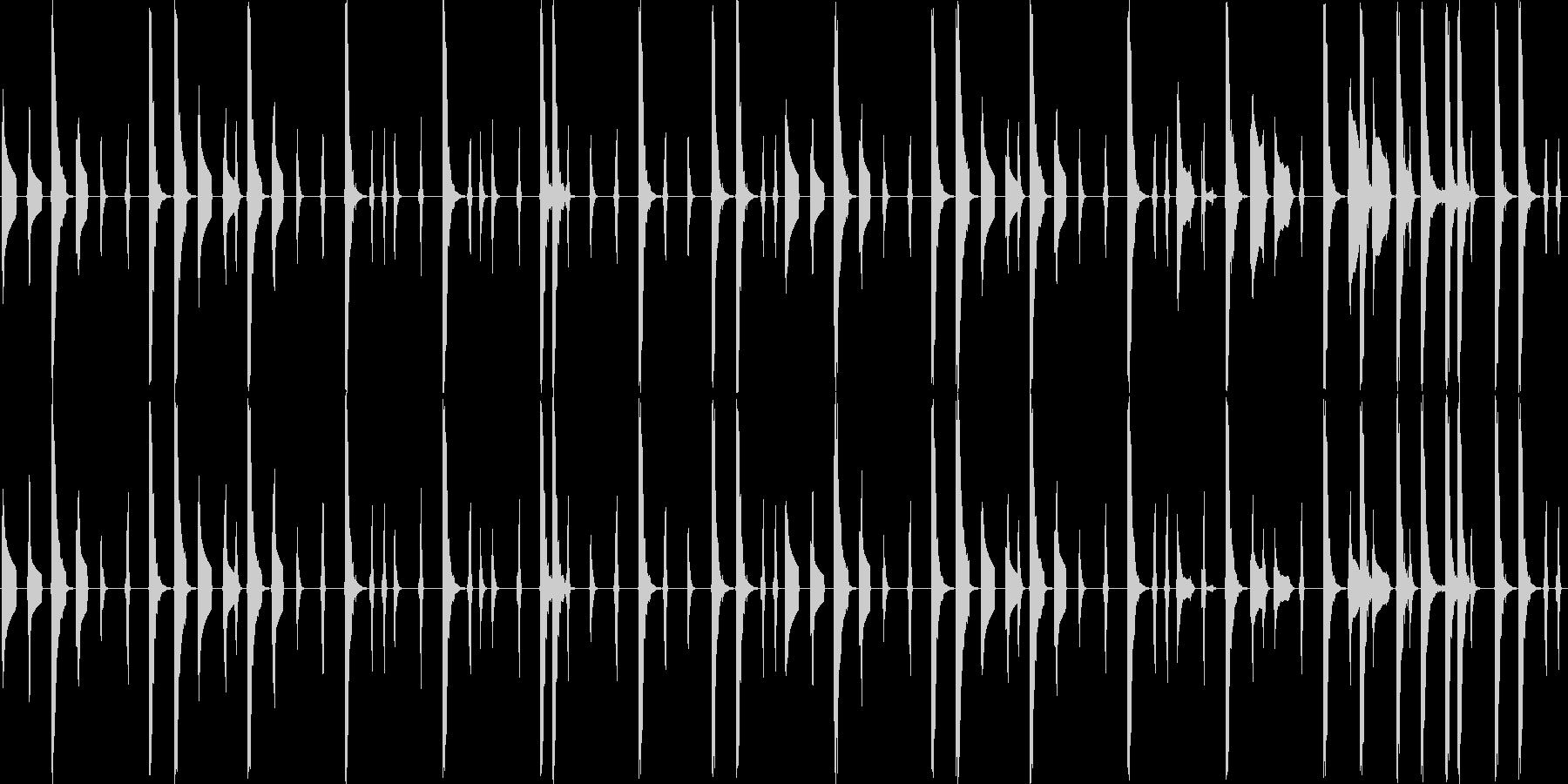 レトロゲーム風のコミカルなエレクトロニカの未再生の波形
