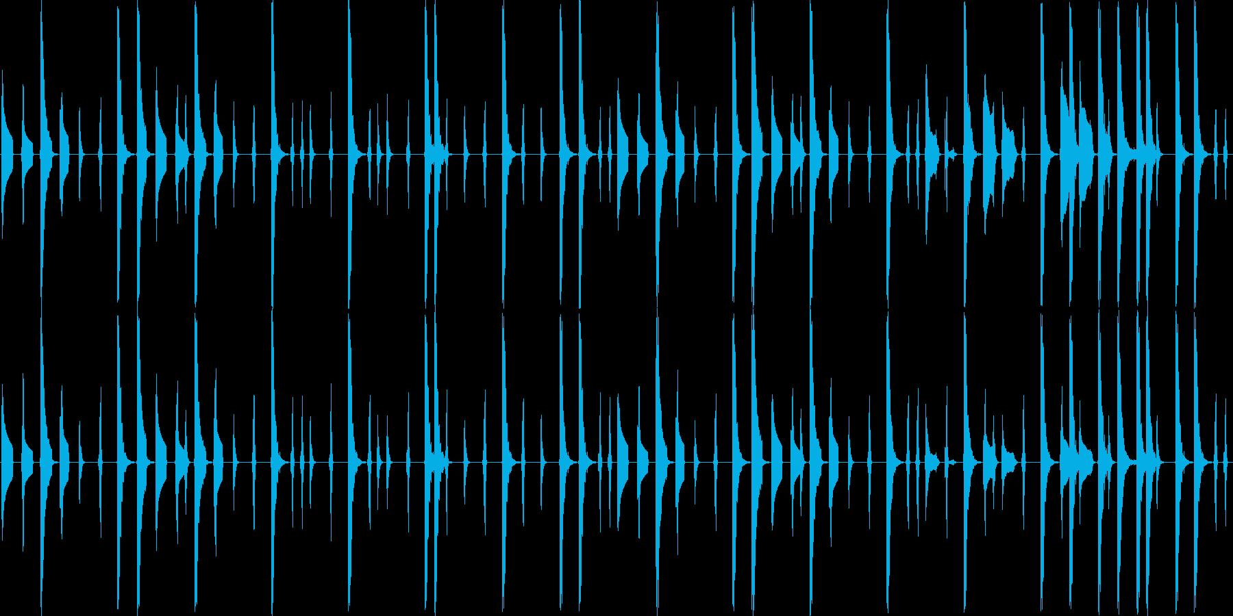 レトロゲーム風のコミカルなエレクトロニカの再生済みの波形