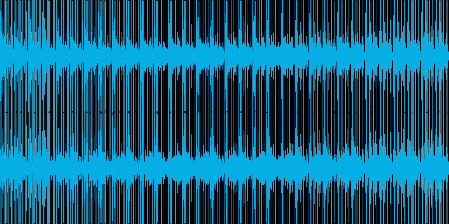 ピアノ、ドラムの再生済みの波形