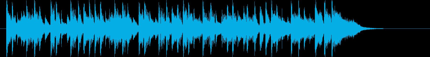 明るいポップスのバンドのジングル曲の再生済みの波形