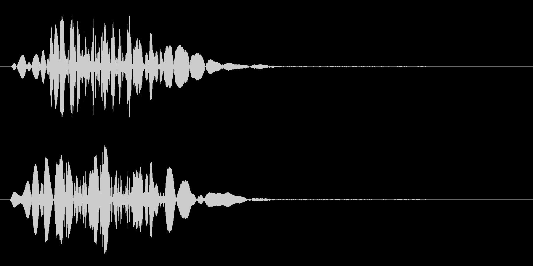 物が落ちた時の効果音の未再生の波形