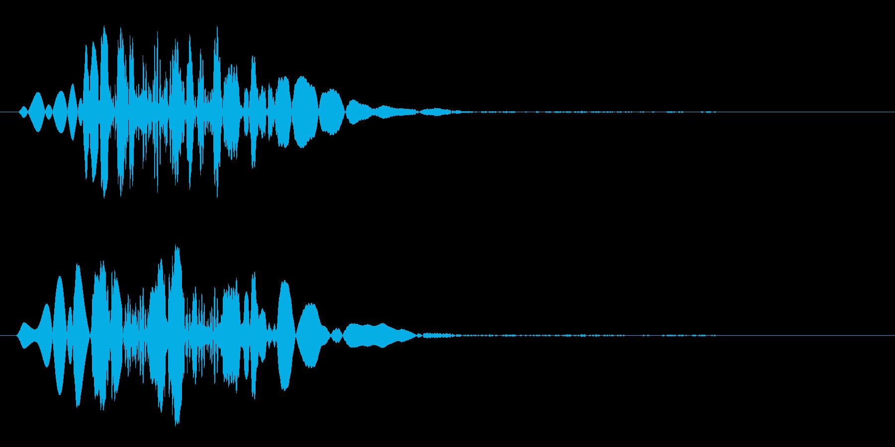 物が落ちた時の効果音の再生済みの波形