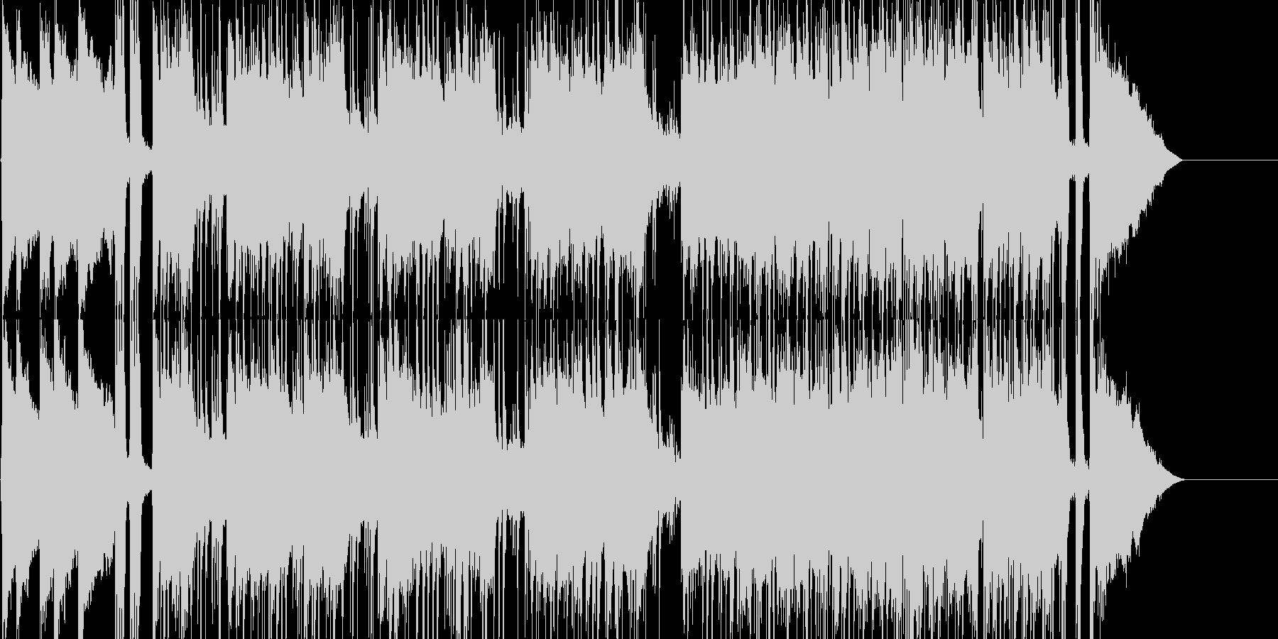 激しい 力強い アタック 場面転換の未再生の波形
