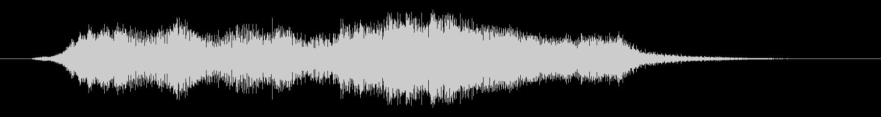 オーケストラのイントロ・タイトルジングルの未再生の波形