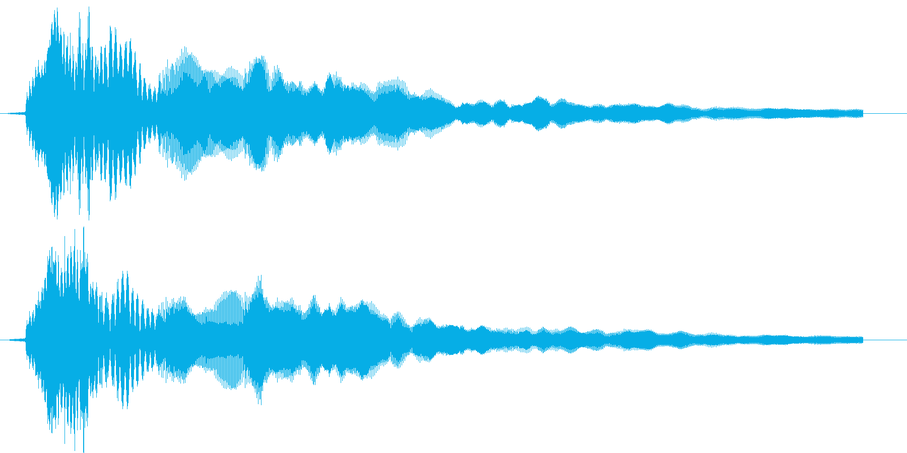 きゅいーんの再生済みの波形