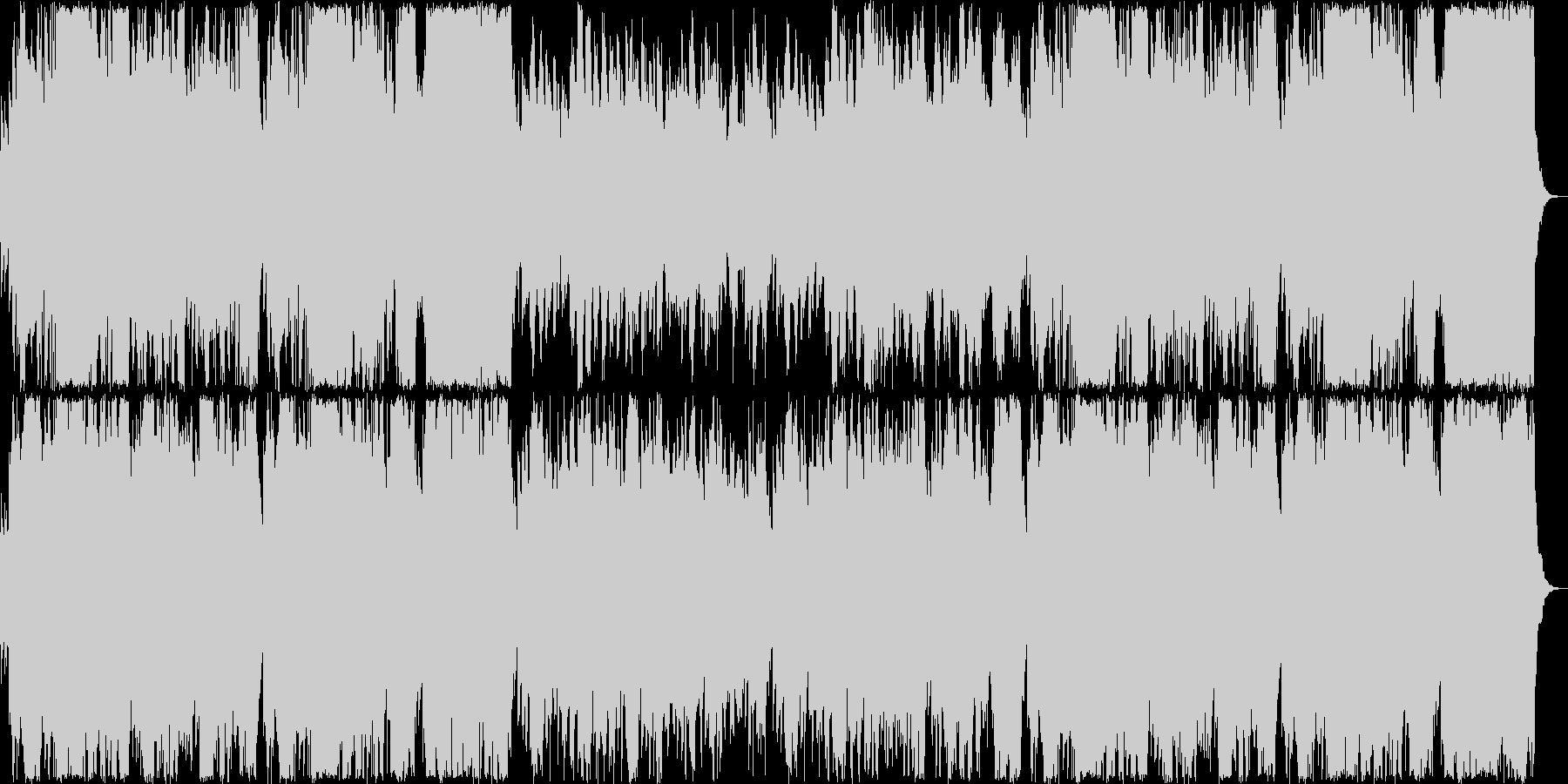 透き通るリラクゼーションミュージックの未再生の波形