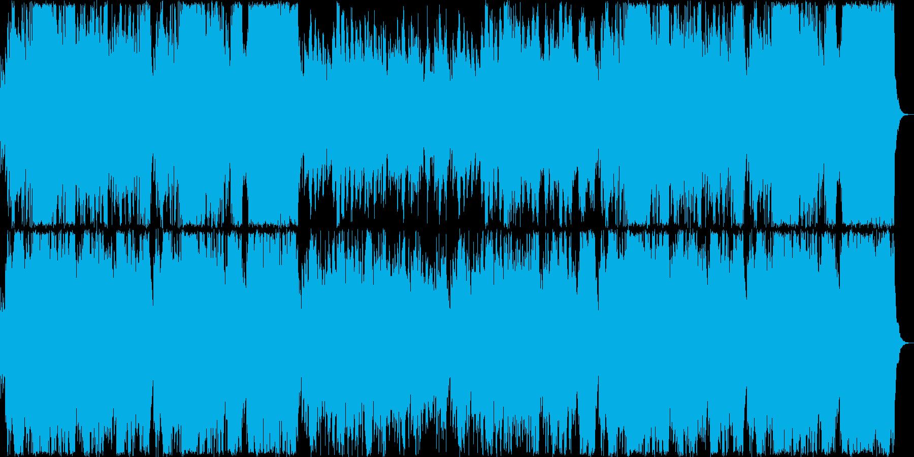 透き通るリラクゼーションミュージックの再生済みの波形