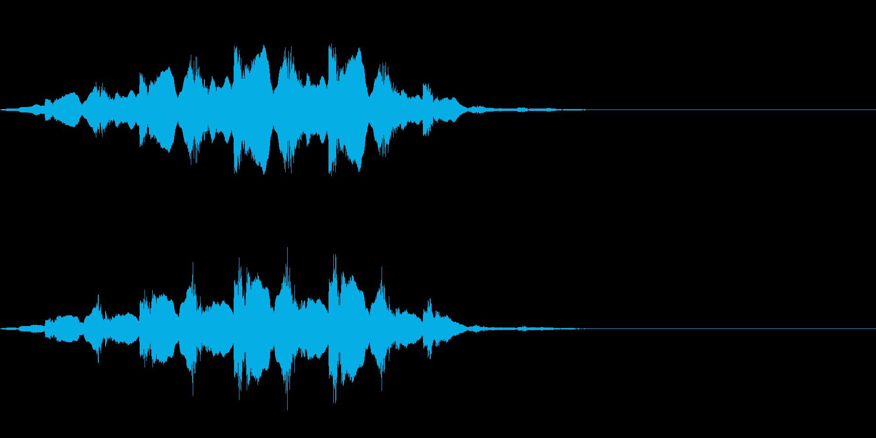 救急車のサイレン ピーポーピーポーの再生済みの波形