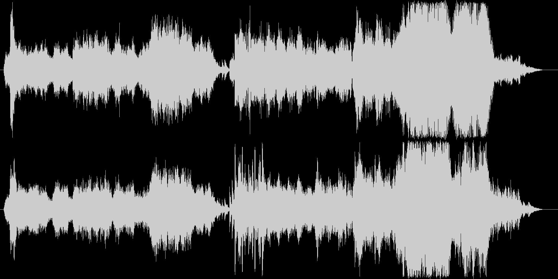 広々、のんびりとしたオケ曲の未再生の波形