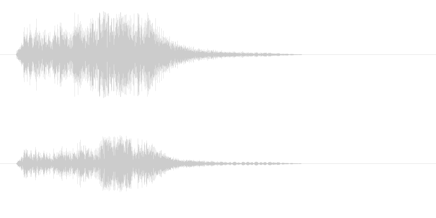 チャッという金属の効果音の未再生の波形