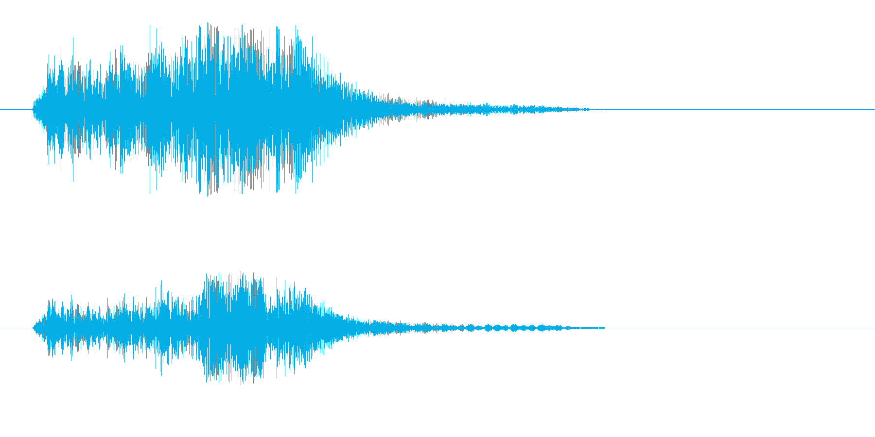 チャッという金属の効果音の再生済みの波形