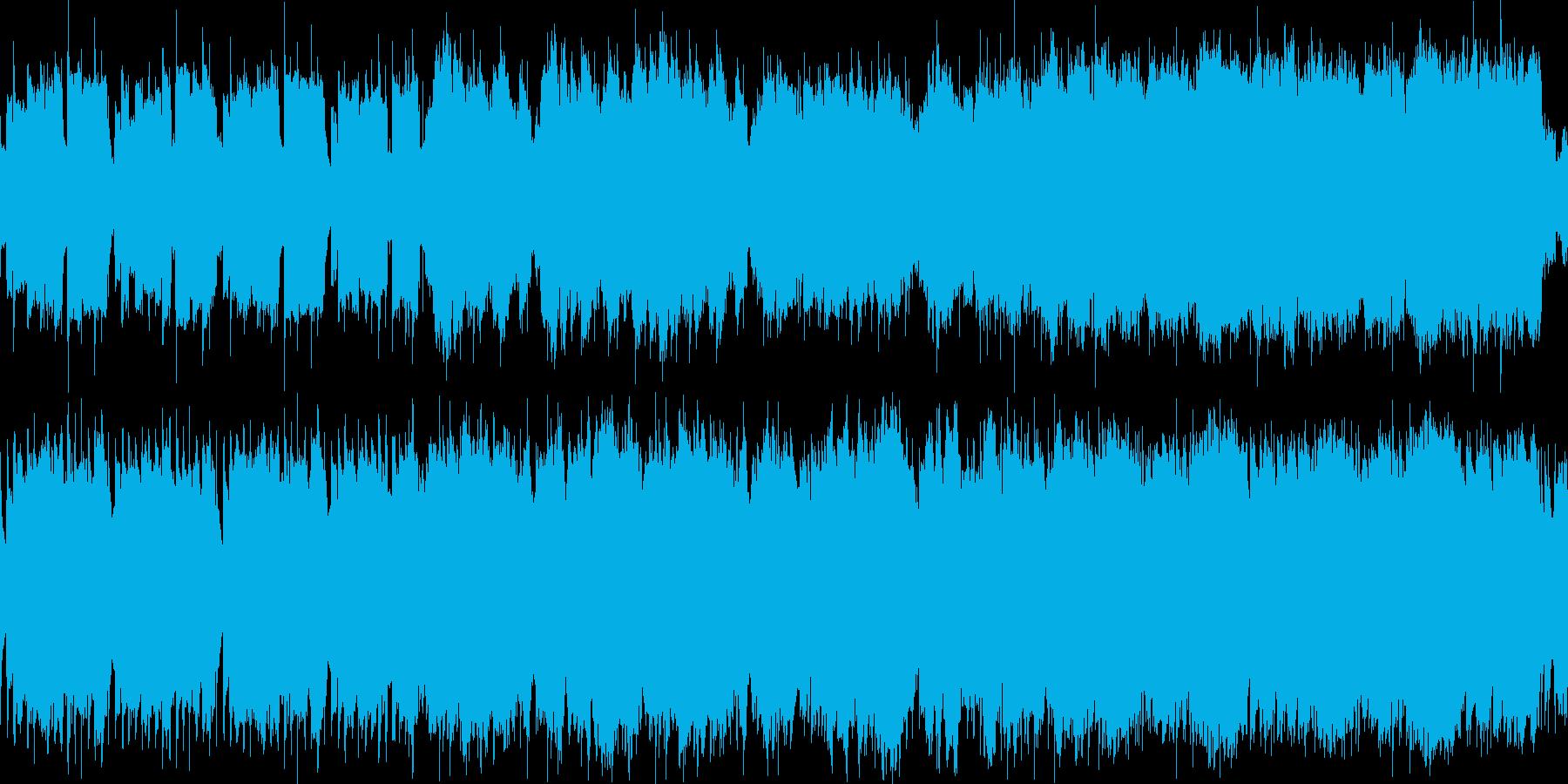 和やかな曲の再生済みの波形