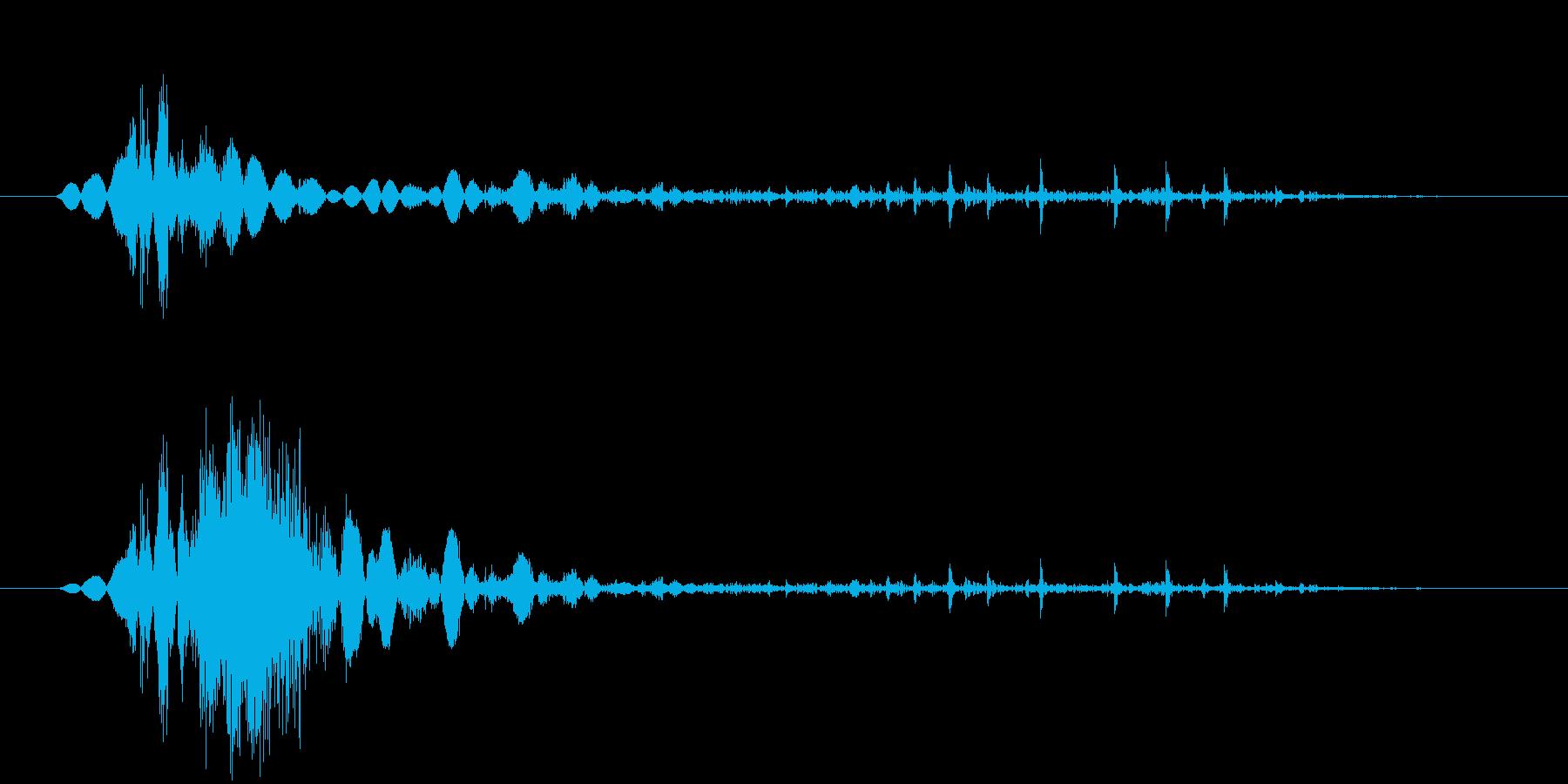 鞭(ムチ)で攻撃する効果音 08bの再生済みの波形