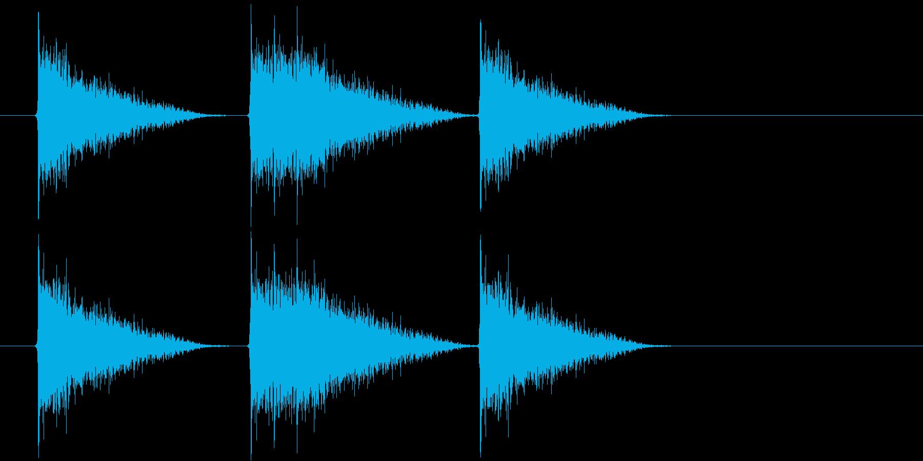 バン、ババン!(強く勢いのある攻撃音)の再生済みの波形