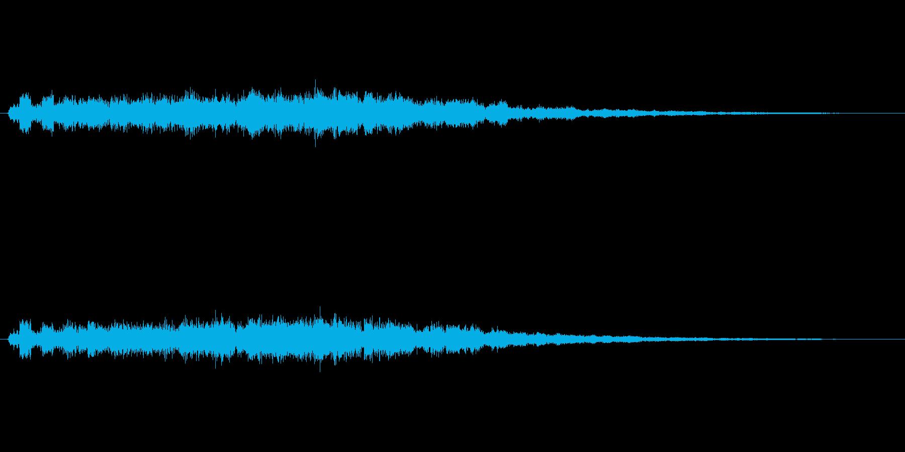 キラキラーン(氷の魔法、エフェクト)の再生済みの波形