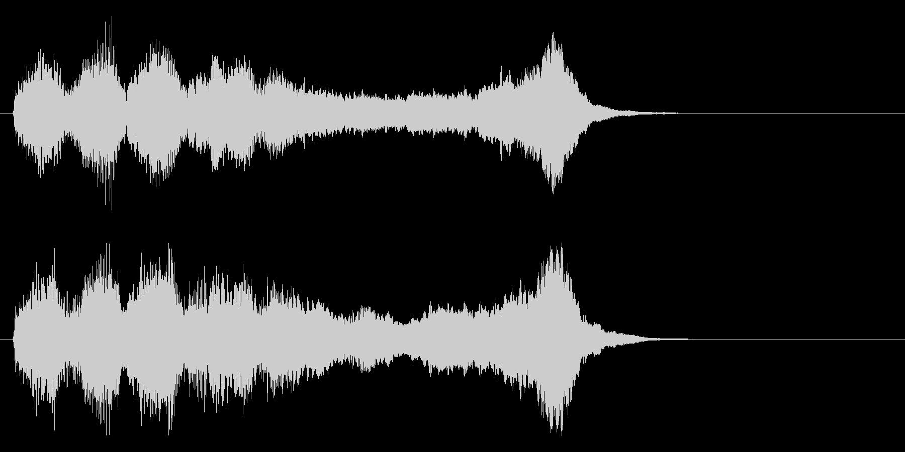 華やかで明るいファンファーレ1 金管のみの未再生の波形
