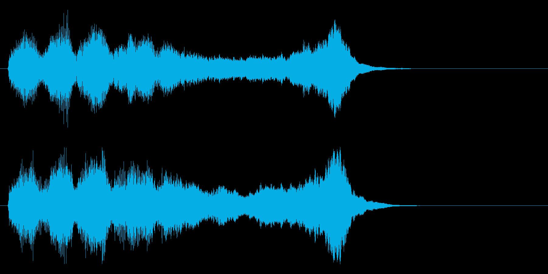 華やかで明るいファンファーレ1 金管のみの再生済みの波形