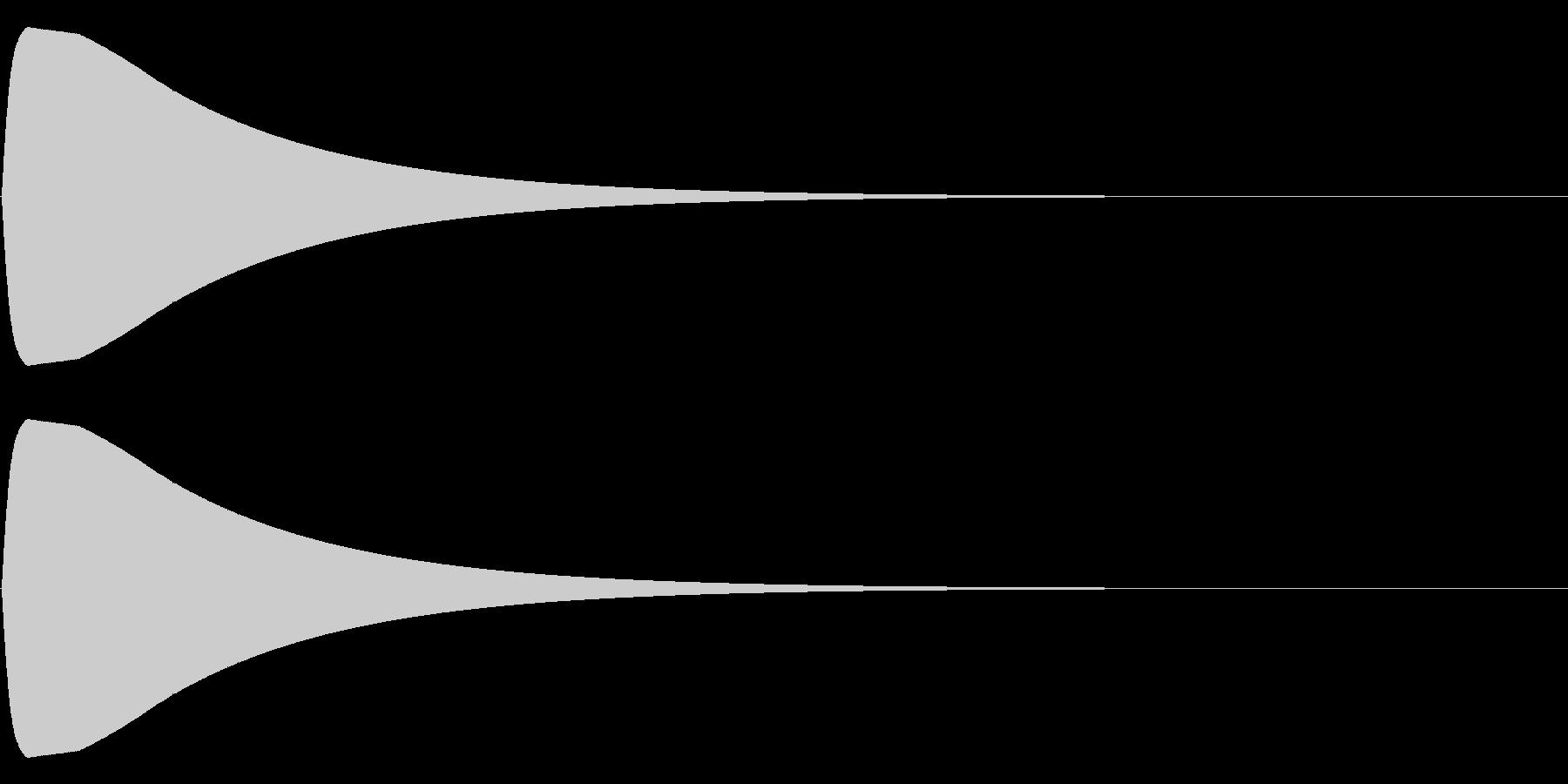 チュォーン(電子音)の未再生の波形