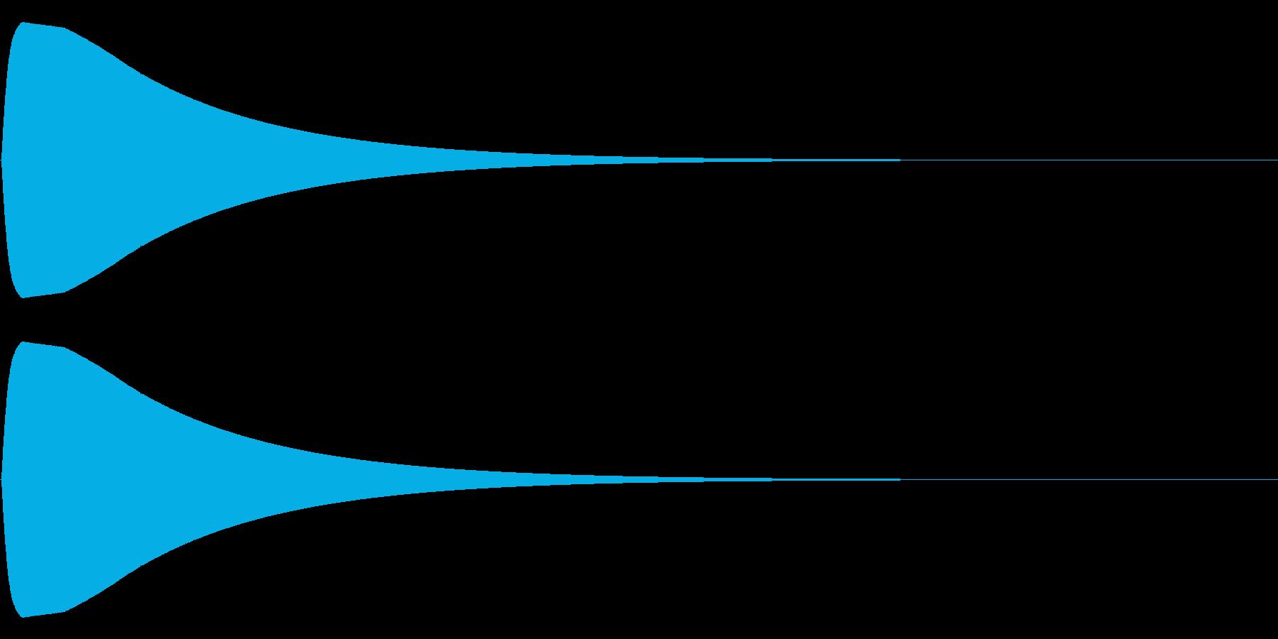 チュォーン(電子音)の再生済みの波形