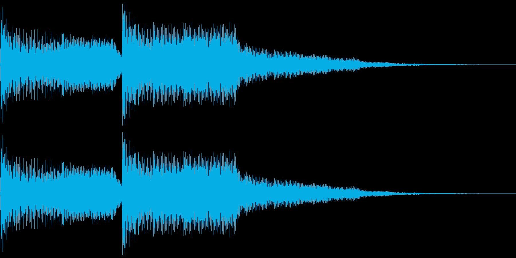 クラシックギターのジングルの再生済みの波形