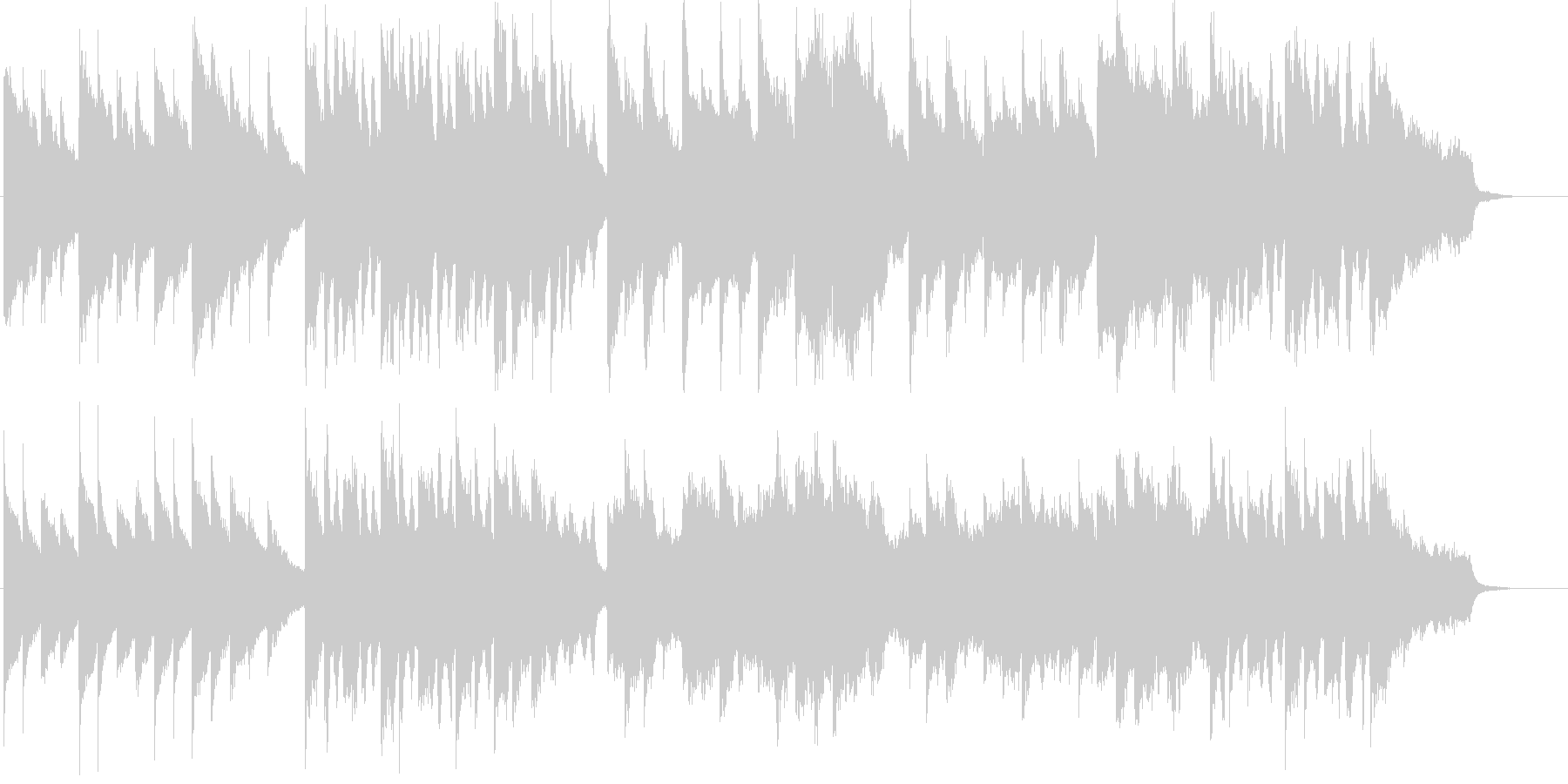 可愛らしくファンタジックなメルヘンBGMの未再生の波形