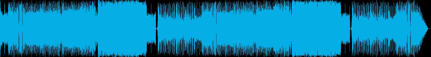 ボス戦に使えそうなロック調の曲です。の再生済みの波形