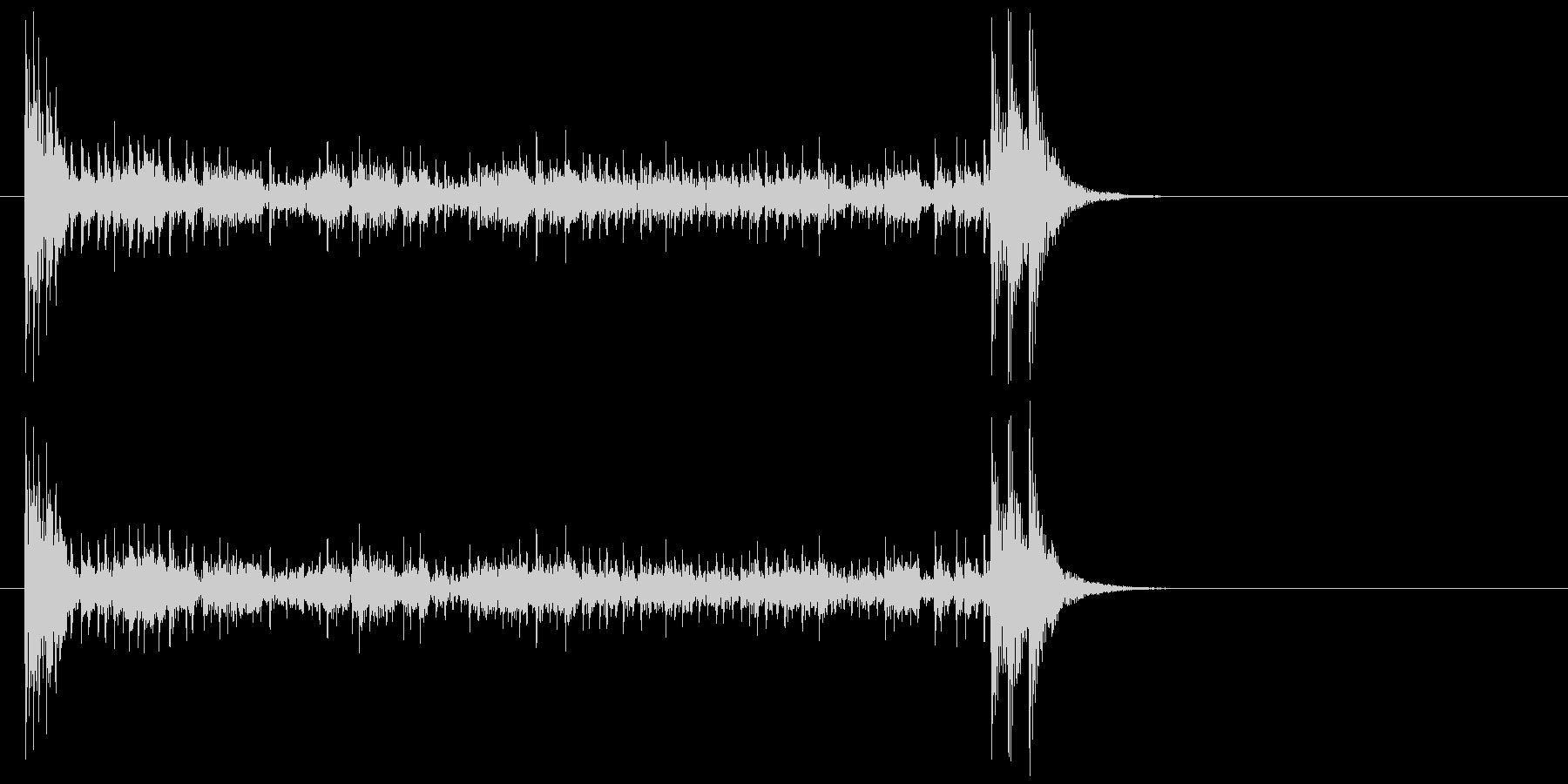 結果発表ドコドコ・ロール10秒引っ張るの未再生の波形