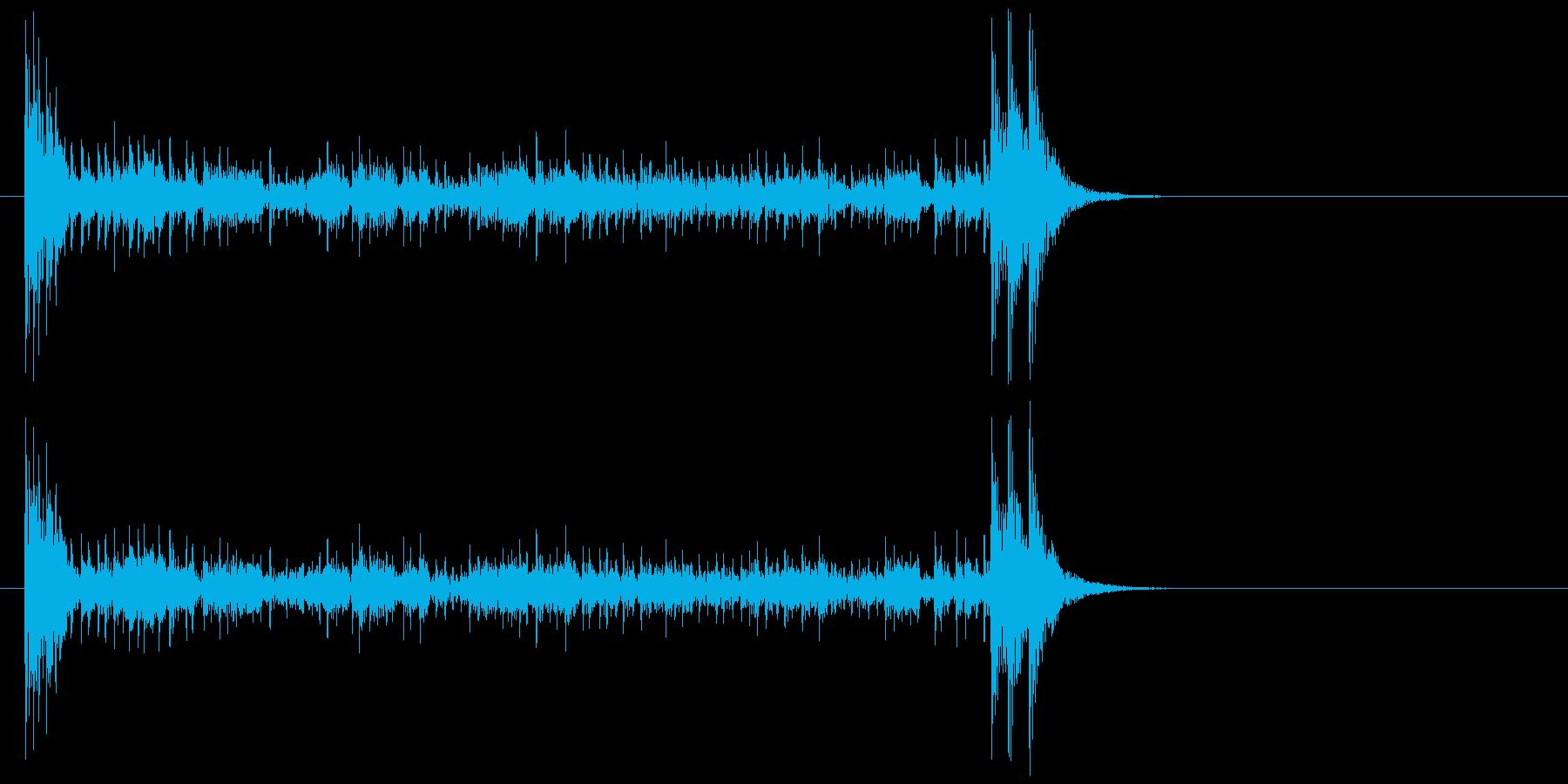 結果発表ドコドコ・ロール10秒引っ張るの再生済みの波形