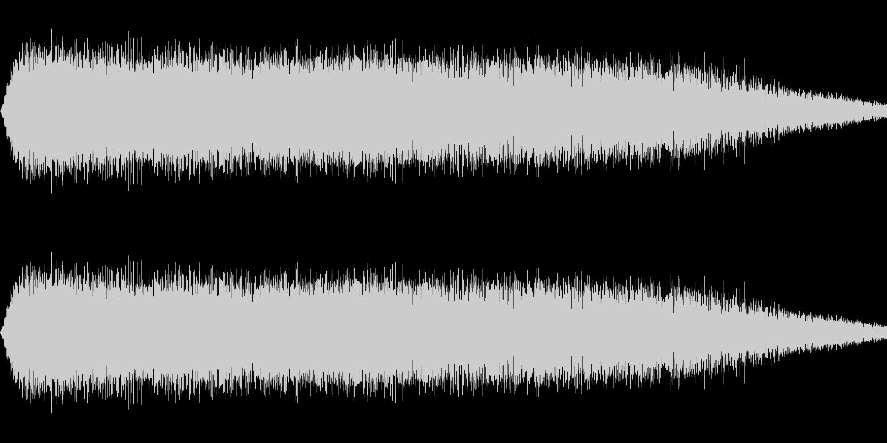 ショット・ビーム発射音#4の未再生の波形